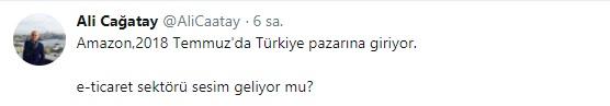 Ali Çağatay'ın tweeti