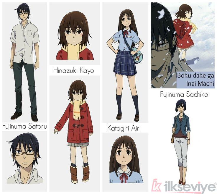 Boku Dake ga Inai Machi Karakterleri
