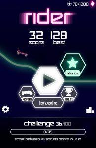 Rider oyun ekranı