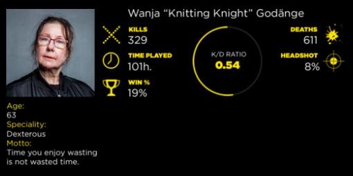 Knitting Knight