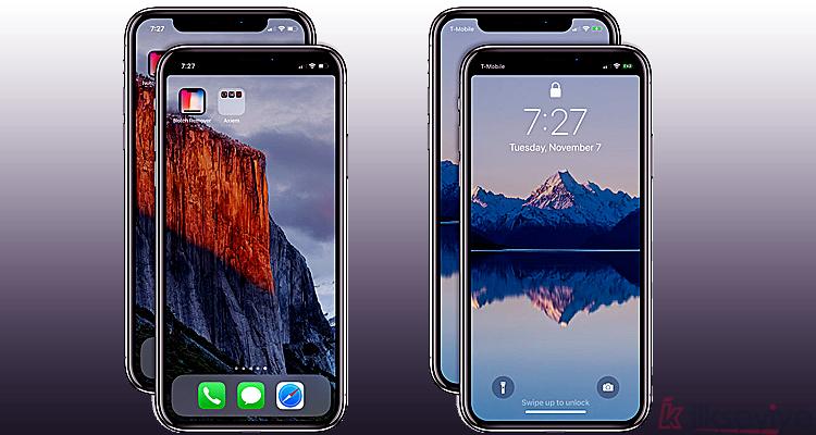 iPhone X Çentik Kaldırma