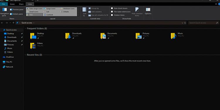Windows 10 Dosya Gezgini Koyu Yapma