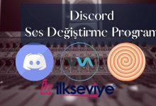 discord ses değiştirme 2021