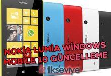 nokia lumia windows mobile 10 güncelleme