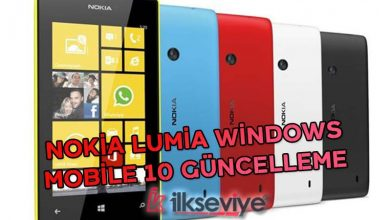 nokia lumia windows mobile 10 güncelleme